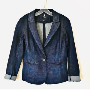 ❤️ Ann Taylor LOFT denim jacket (size: 6)
